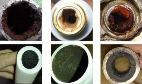 使用多年的自来水管道,特别脏