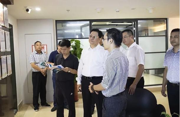 河北霸州市长莅临厦门日村科技参观指导